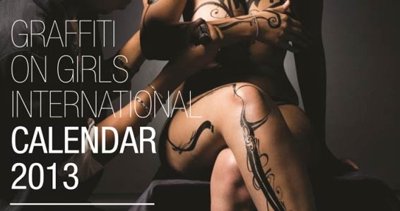« Graffiti On Girls » – le calendrier 2013