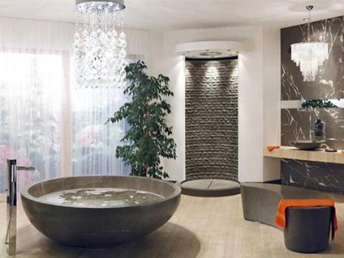 Salle De Bain Zen. Grey_bathroom_with_a_view