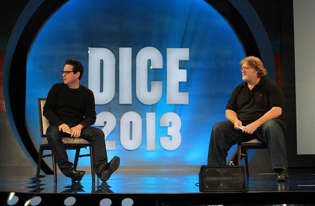 J.J. Abrams et Gabe Newell (Valve) au DICE 2013