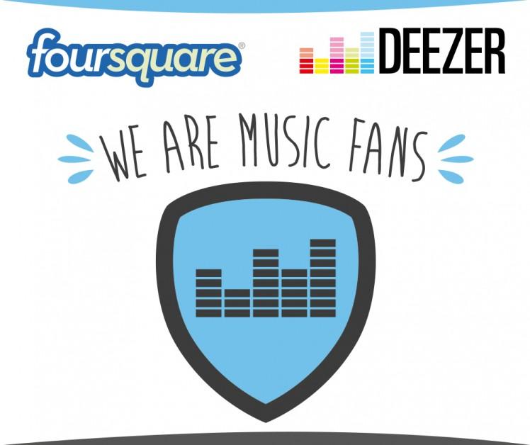 foursquare deezer