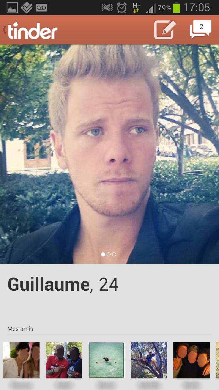 Tinder - votre profil