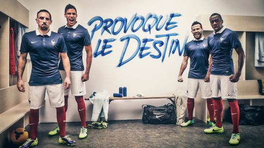Le nouveau maillot de l'équipe de France de football pour la saison 2014