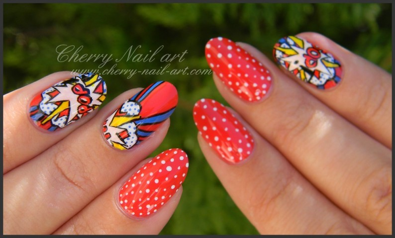 nail-art-pois-explosion-reproduction-oeuvre-pop-art-roy-lichtenstein-1